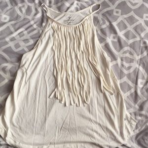 Soft and Sexy White frill tank ✨5 for $25